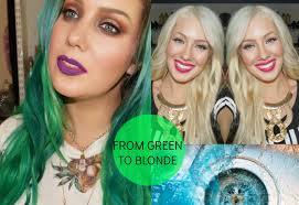 platunum hair dye over the counter how to remove green blue from your hair from green to blonde