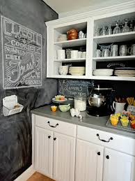 backsplashes black chalkboard kitchen backsplash white open