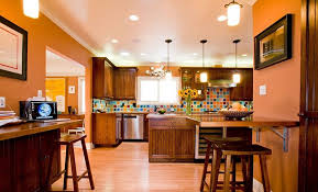 Red Black White Kitchen - kitchen decorating interior orange paint colors red black and