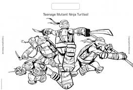 ninja turtle coloring 13228