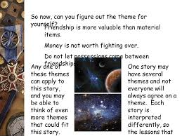 story themes about friendship reading comprehension theme main idea vs supporting details drawing
