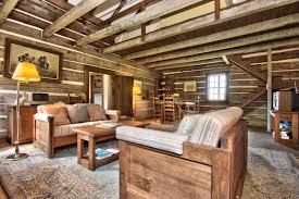 Rustic Leather Living Room Furniture Interior Astonishing Log Cabin Homes Interior Living Room