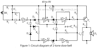 2 u2013 tone door bell u2013 electronics project