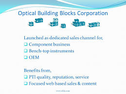 Sister Company Of Bench Optical Building Blocks Corporation Founded In 2008 Sister
