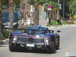 pagani zonda side view pagani zonda 760 lh spotted rear side view in monaco sssupersports