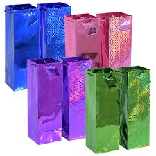 gift bags bulk bulk voila foil wine bottle gift bags at dollartree