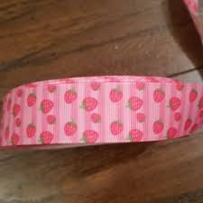 strawberry shortcake ribbon artfire markets