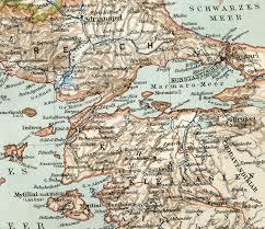 impero turco ottomano vecchia mappa dall atlante geografico 1890 l impero ottomano