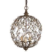 Modern Sphere Chandelier Lighting Crystal Bud 3 Light Sphere Chandelier For Modern Dining