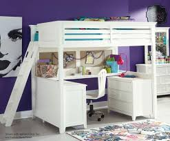 bedroom astounding white full size loft bed design with stairs