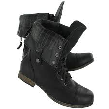 sweater lined foldover combat boots softmoc s black fold combat boots blk
