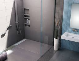 redi trench barrier free ada shower pan 42 x 63 back linear