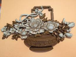 home interior collectibles syroco vintage home interior homeco large flower basket wall plaque