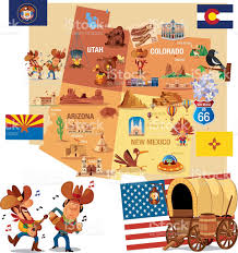 Map Of Albuquerque New Mexico by Cartoon Map Of Usa Stock Vector Art 535467158 Istock