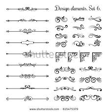 ornamental borders flourish corners royal ornament stock vector