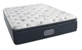 Beautyrest Gel Memory Foam Mattress Topper Amazon Com Simmons Beautyrest Silver Plush Pillow Top Mattress