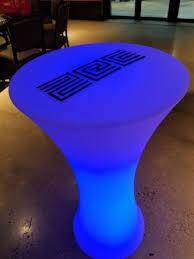 led furniture illuminated dpc event services