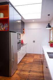 modren black and white kitchen nz bay villa auckland new zealand
