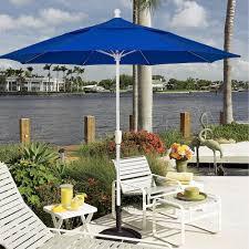 Patio Umbrella White Pole Shop 9 Ft Crank Lift Patio Umbrella With White Pole Fiberbuilt