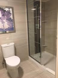 No Shower Door Toilet And Shower With No Door Picture Of Harrah S Las Vegas