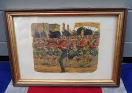 vintage siege siege of lucknow cross framed print
