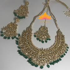 necklace sets designs images Designer green kundan necklace set kundan sets jpg