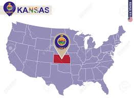 usa map kansas state kansas state on usa map kansas flag and map us states royalty