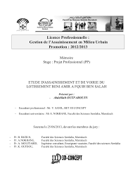 bureau etude assainissement etude de voirie et d assainissement du lotissement beni amir à fkih b