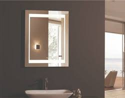 Lighted Vanity Mirrors For Bathroom Led Lighted Mirror With Integrated Clock Zen Lighted Vanity Mirror