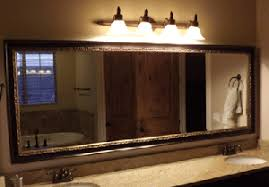 framed bathroom mirror ideas how to frame bathroom mirror large and beautiful photos photo