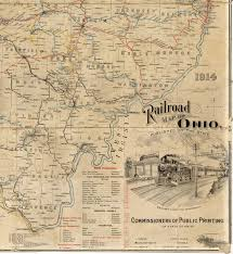 Map Of Ohio by 1914 Railroad Map Of Ohio