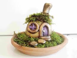 how to make a stone fairy house and garden with polymer clay 4x