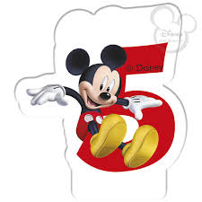 mickey mouse birthday disney 2017 half disney mickey mouse birthday candle age 5