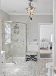 Shower Head In Ceiling by Traditional 3 4 Bathroom With Complex Marble Tile Floors U0026 Rain