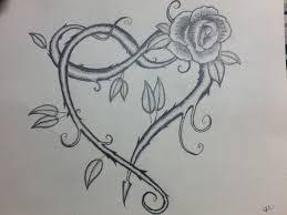 unicorns and vine hearts tattoo sketch photo 2 photo pictures