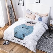 beddding set cool cat bedding set 100 cotton duvet cover bed