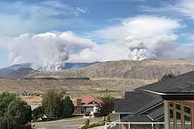 Bc Wildfire Interface by Breaking Areas Near Clinton Under Evacuation Ashcroft Cache