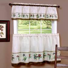 Valance And Drapes Pioneer Woman Kitchen Curtain And Valance 3pc Set Country Garden