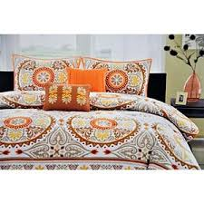 suite creations medallion 5 pc bedding set full queen brown