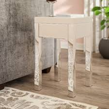 Mirrored Accent Table Mirrored End Tables You U0027ll Love Wayfair