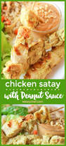 634 best easy recipes by the weary chef images on pinterest chicken satay with peanut dipping sauce