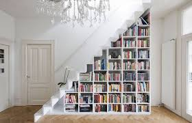 stair bookcase stair of the week floats over recessed bookcase treehugger