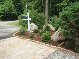 gravel driveway ideas paving fo near the gate and the garage