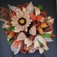 Sunflower Mesh Wreath Sunflower Wreath Fall Wreath Autumn Front From Underthekentuckysu