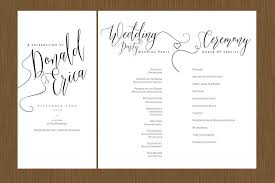 wedding programs u2013 detail wedding design