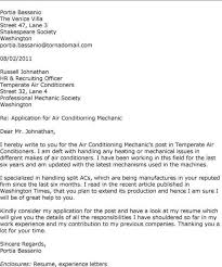 vehicle technician cover letter