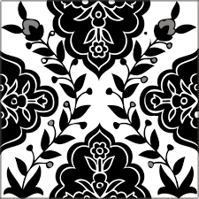 decorative tiles black white balian tile studio of jerusalem black