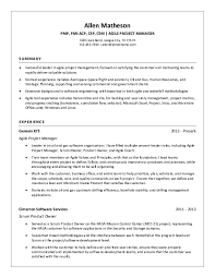 Scrum Master Resume Example by Project Manager Resume Samples Download Free Templates In Pdf