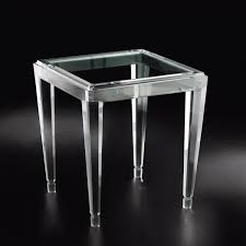 allan knightacrylic end and occasional tables gold palm end
