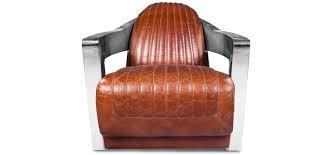 fauteuil design fauteuil design churchill lounge cuir premium acier pas cher